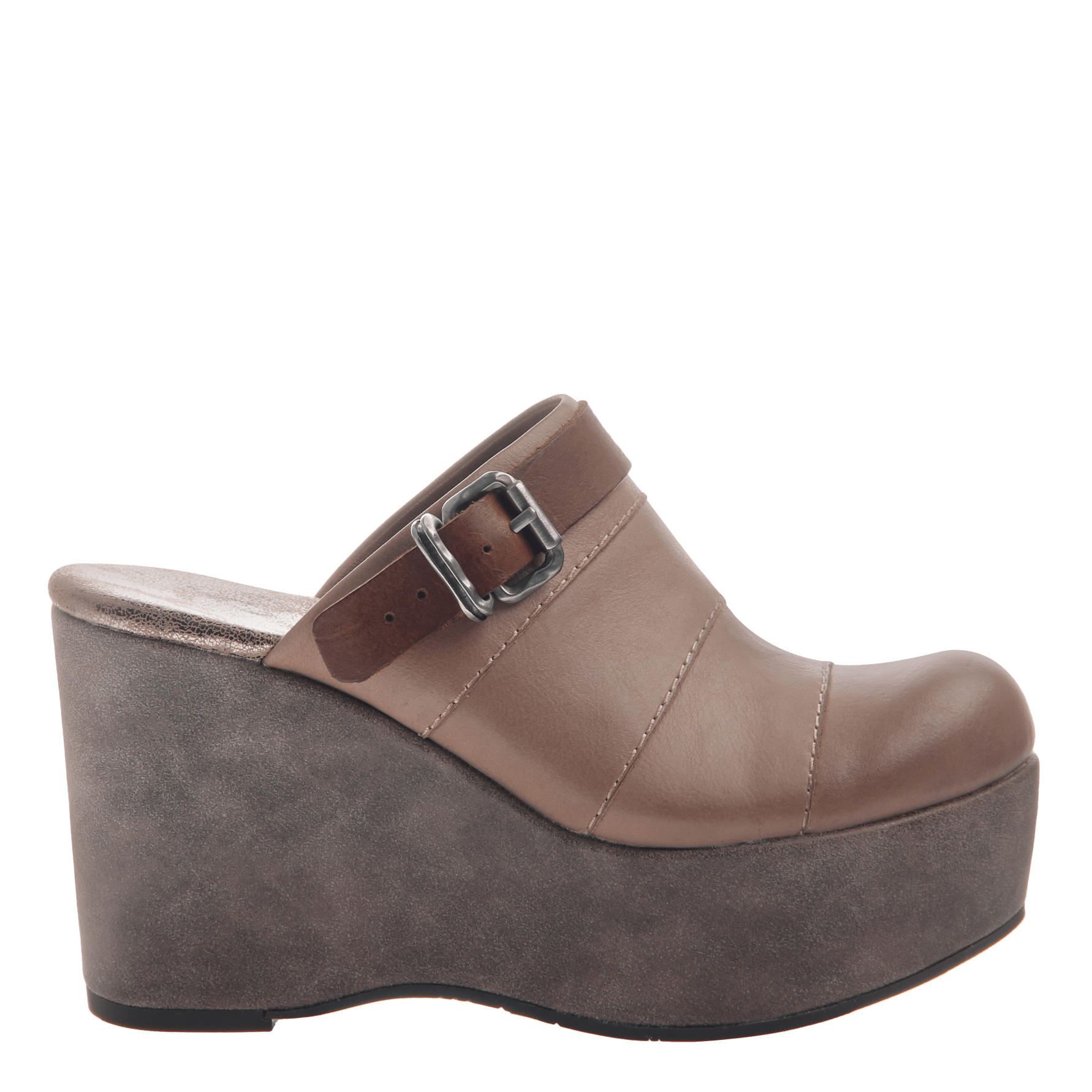 0a50c11329a Womens platform wedge Journey in Pecan side view