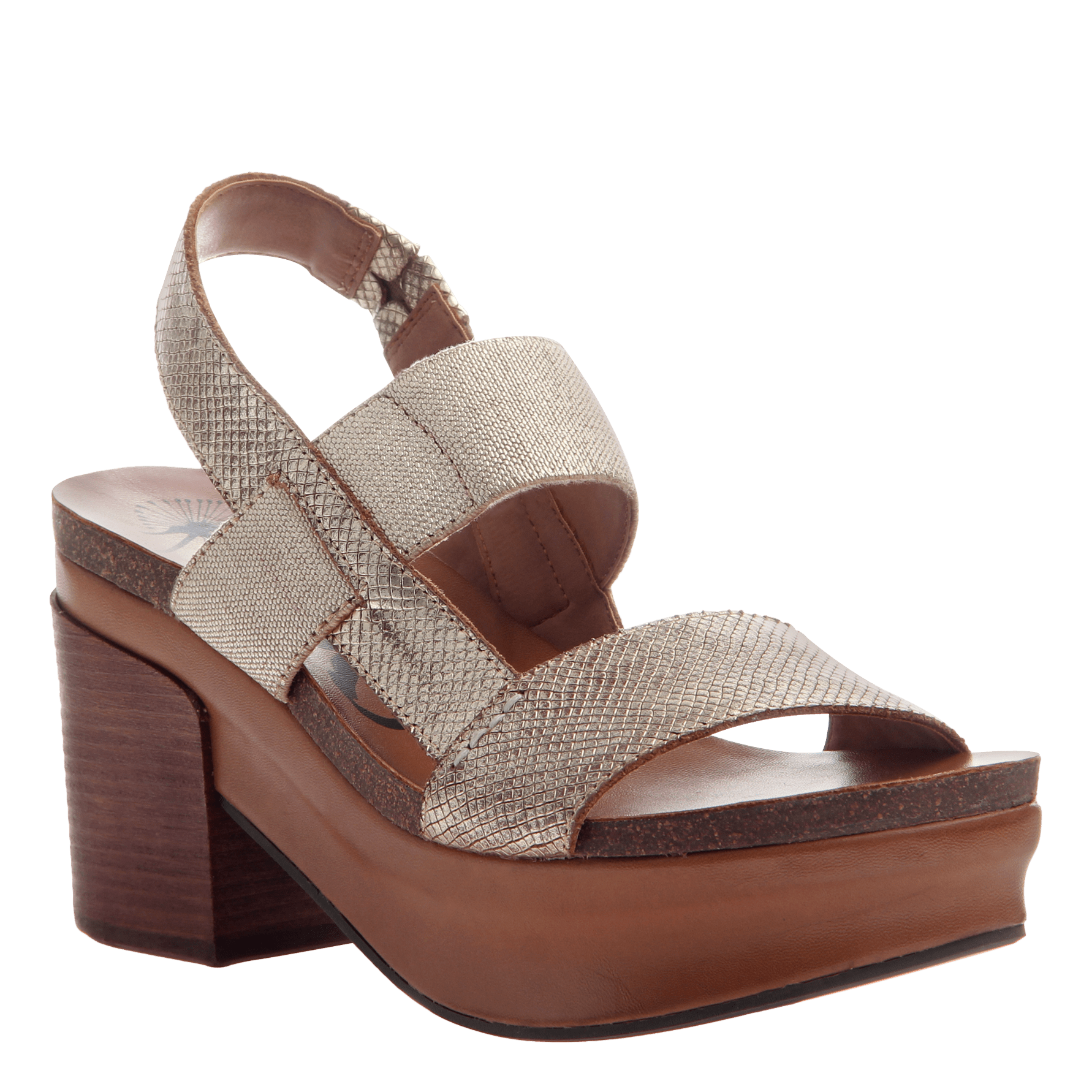 Indio women's stacked heel in Gold