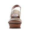 Indio women's stacked heel in Gold front view
