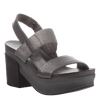Indio Women's Stacked Heel in Pewter