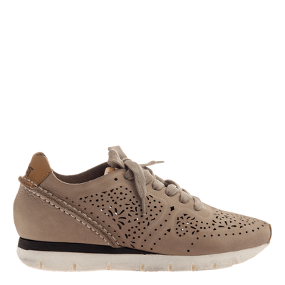 Khora women's sneaker in Bone side view