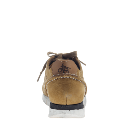 Khora women's sneaker in Gold Washed back view