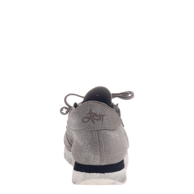 Lunar women's sneaker in Grey Silver back view