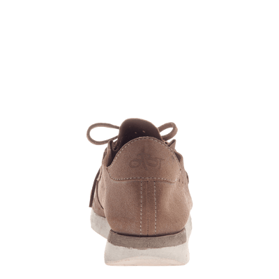 Lunar women's sneaker in Mid Taupe back view