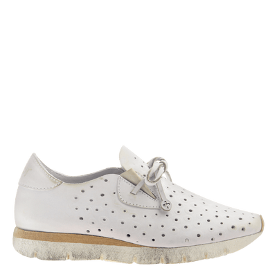 Womens sneaker lunar in dove grey side view