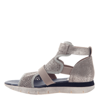 Astro Gladiator Sport Sandal in Grey Silver inside view