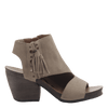 Flower Child women's heeled sandal in desert side view