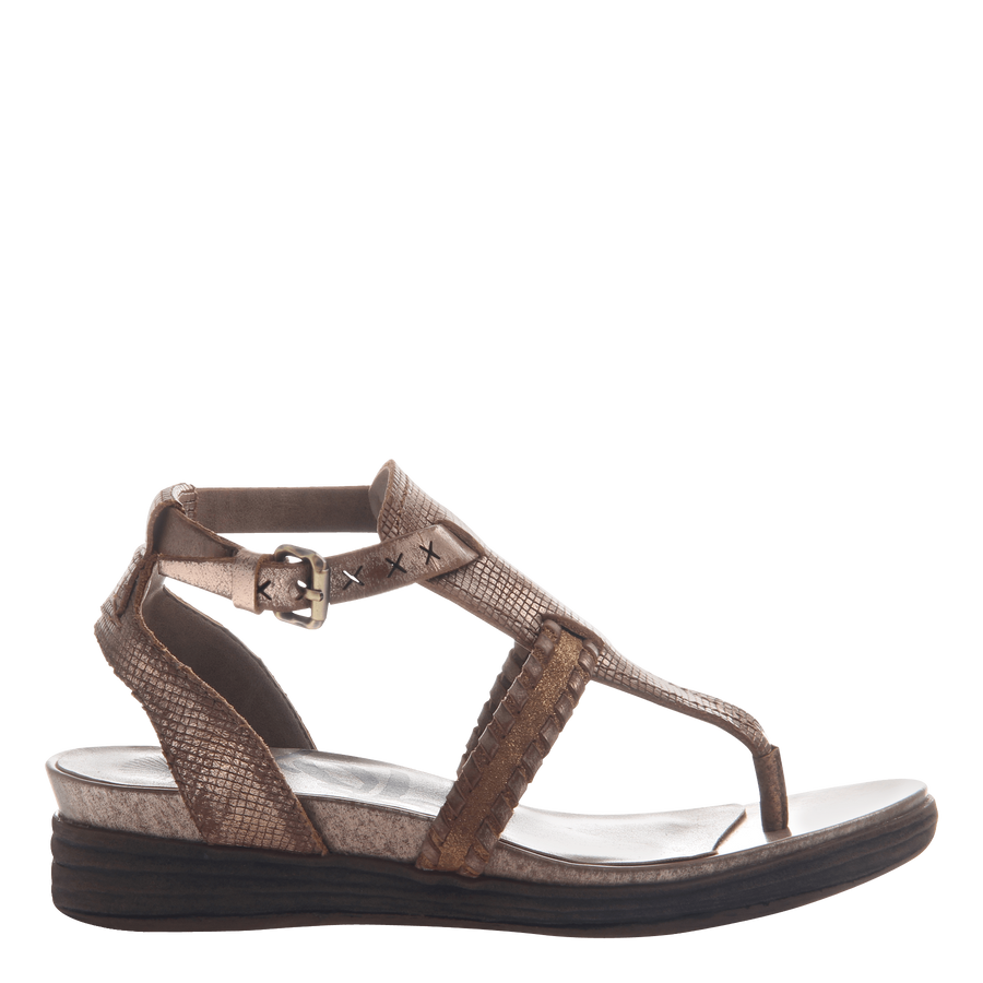 CELESTIAL in COPPER Flat Sandals