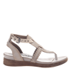Celestial sandal in light clay side view
