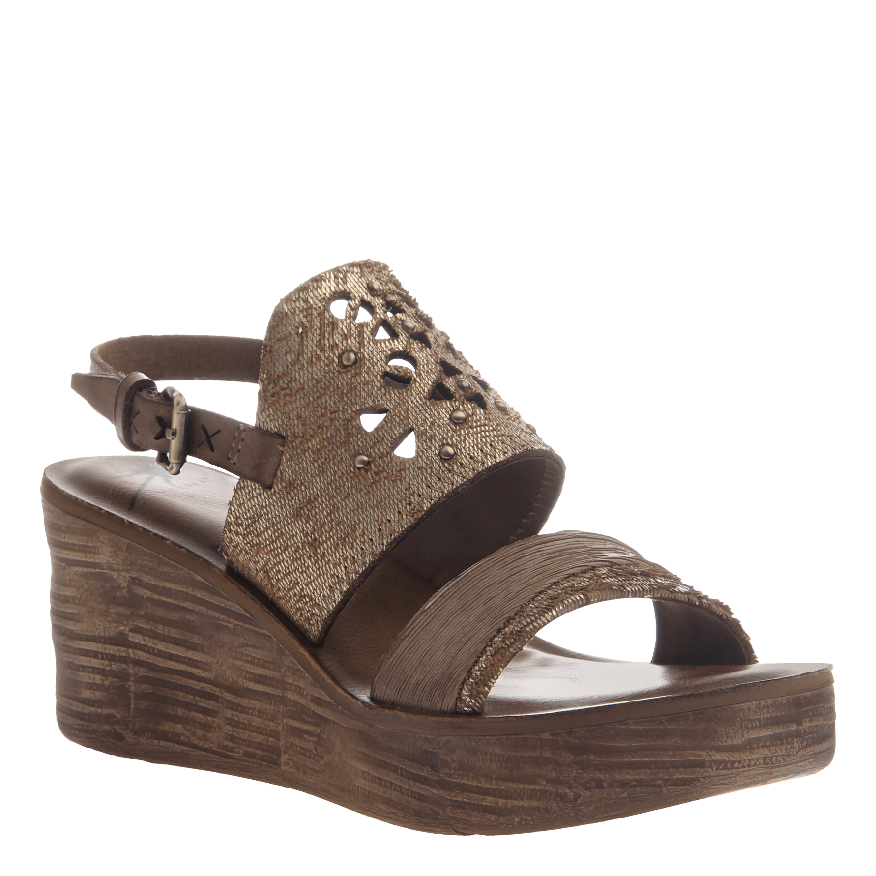 Hippie wedge in Gold