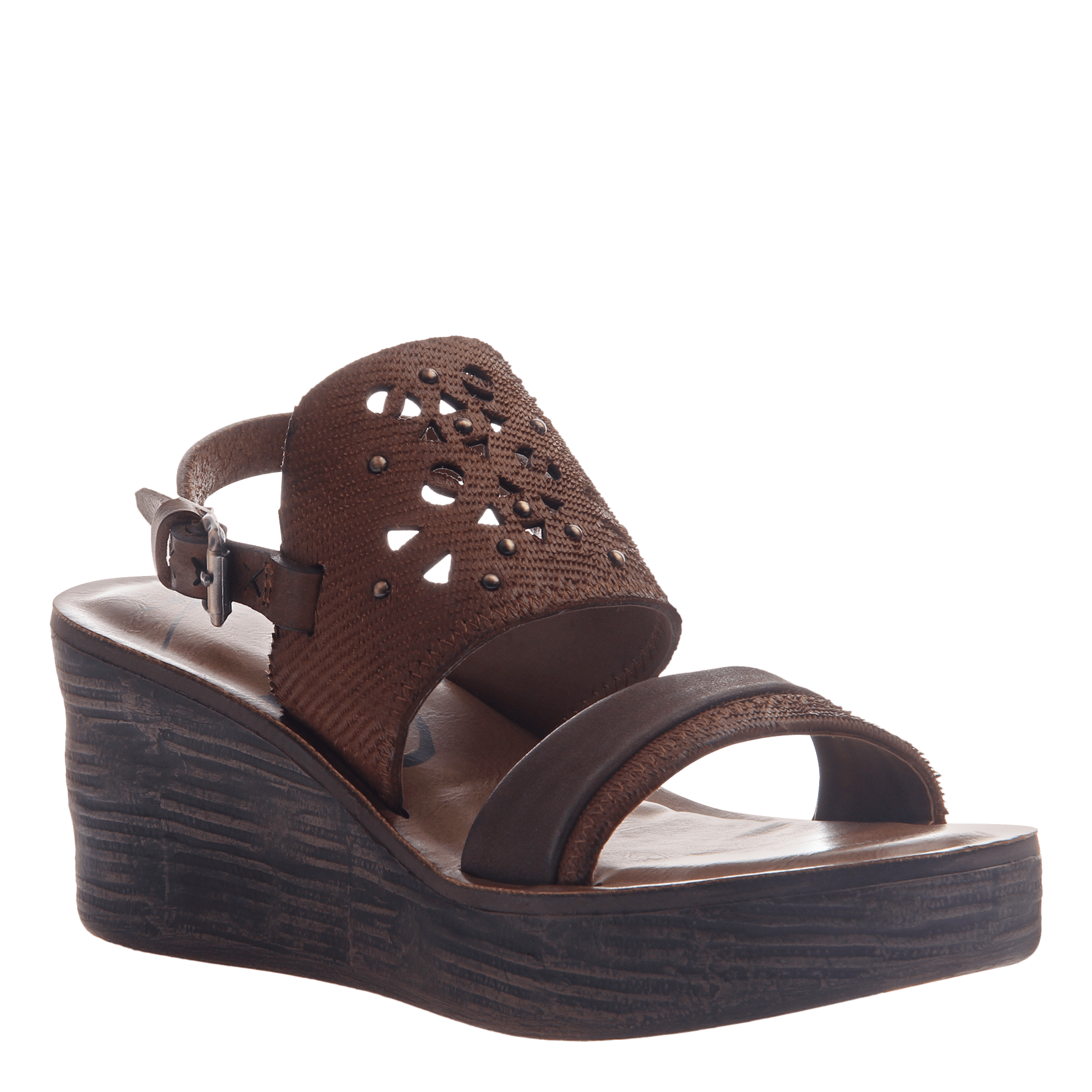 a878e3942 Hippie in Oak Wedge Sandals | Women's Shoes by OTBT