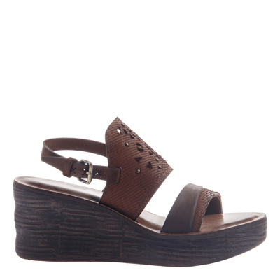 Hippie wedge in Oak Side view