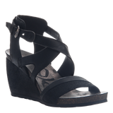 FREEDOM in BLACK Wedge Sandals