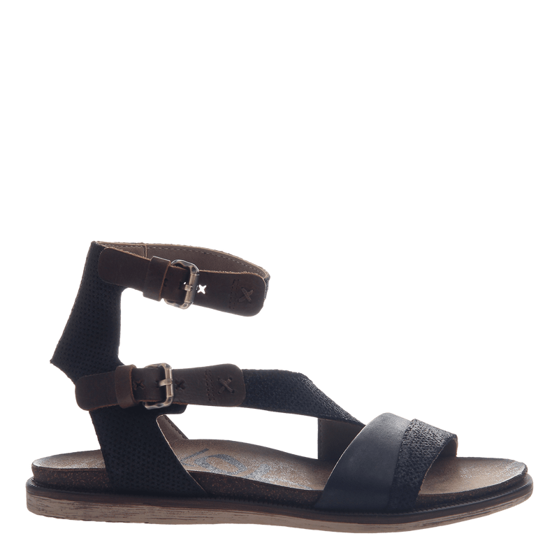 March On women's sandal in black