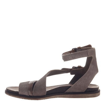 March On women's sandal in Grey Silver inside view