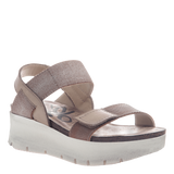 NOVA in SILVER Wedge Sandals