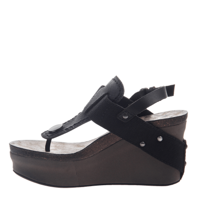 Joyride Women's Wedge in Black outside view