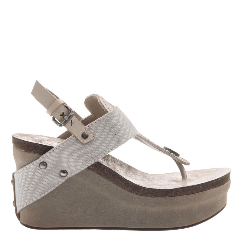 Women's platform wedge Joyride in dove grey