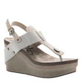 JOYRIDE in DOVE GREY Wedge Sandals