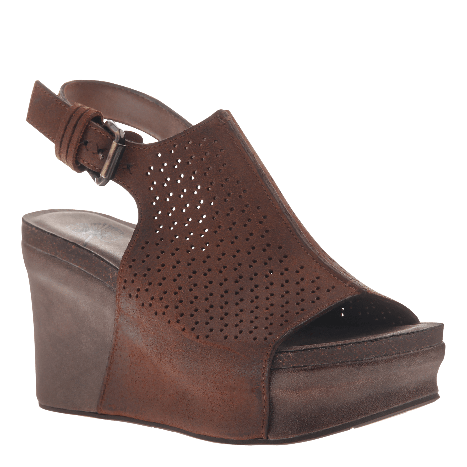 Womens platform wedge jaunt in new tan