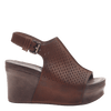 Womens platform wedge jaunt in new tan side view