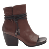 Women open toe ankle boot vagabond in oak side view