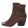 Women open toe ankle boot vagabond in oak inside view