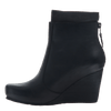 Women's wedge ankle bootie the vagary in black inside view