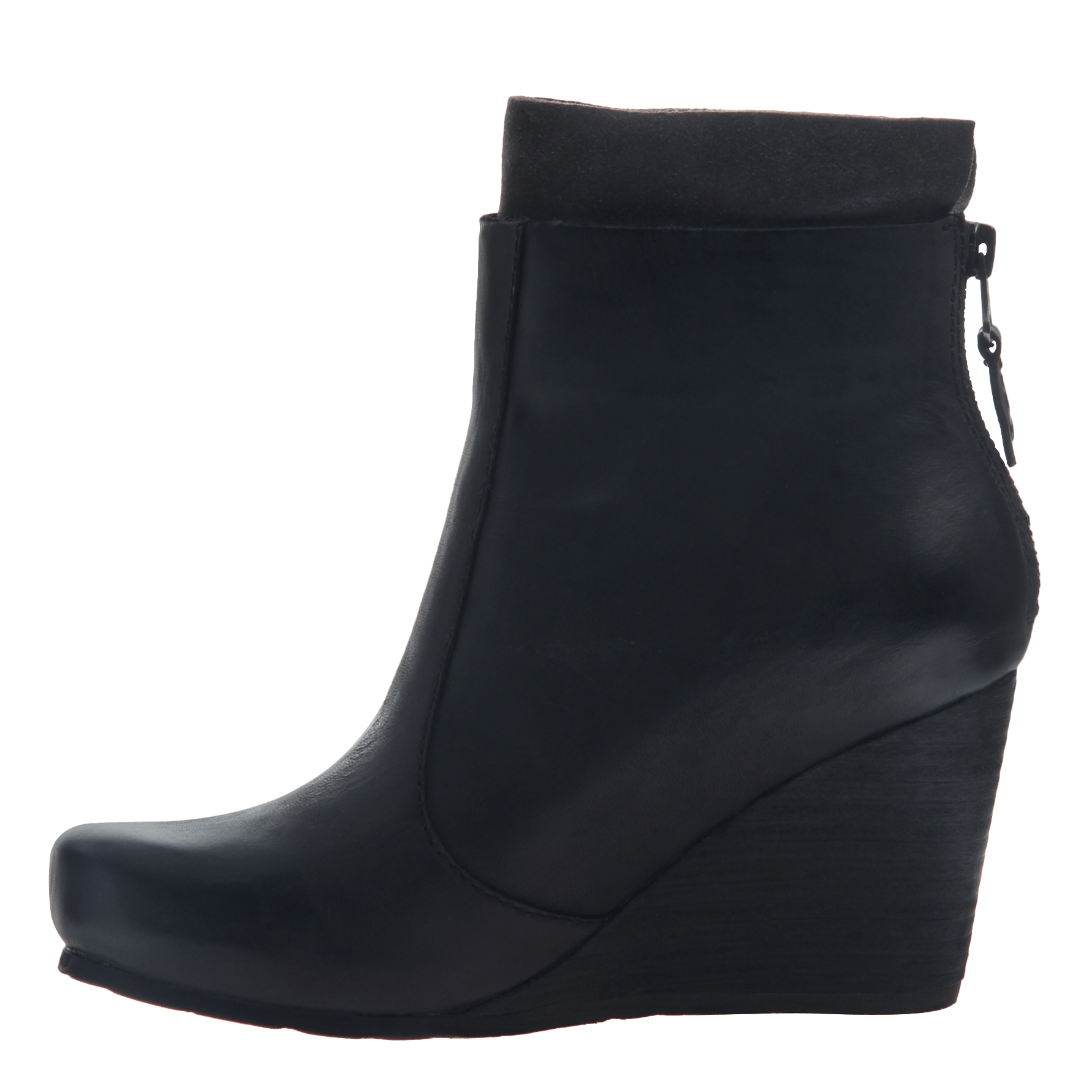 Women s wedge ankle bootie the vagary in black inside view bab8808cf
