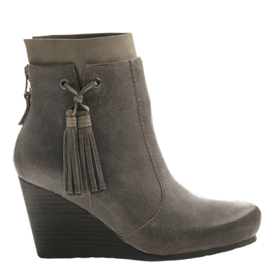 Women's bootie the Vagary in dust grey side view