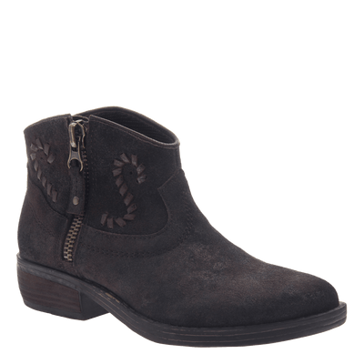 Women's western ankle bootie the Trek in Mocha