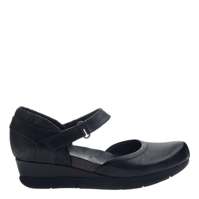 229a2ada84f Companion women s wedge in black side view