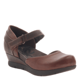 COMPANION in OAK Closed Toe Wedges