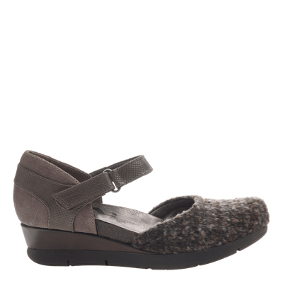 Companion women's wedge in ranch mink side view