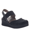 Women's wedge the roadie in black
