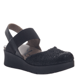 ROADIE in BLACK Closed Toe Wedges