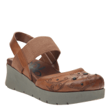 ROADIE in TOBACCO Closed Toe Wedges