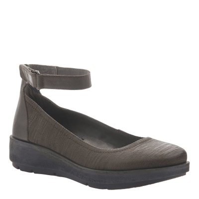 Women's ballet flat the Scamper in Dark Dune