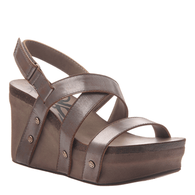 Womens wedge sandals Sail in pewter