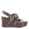 Womens wedge sandals Sail in pewter side