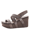 Womens wedge sandals Sail in pewter inside
