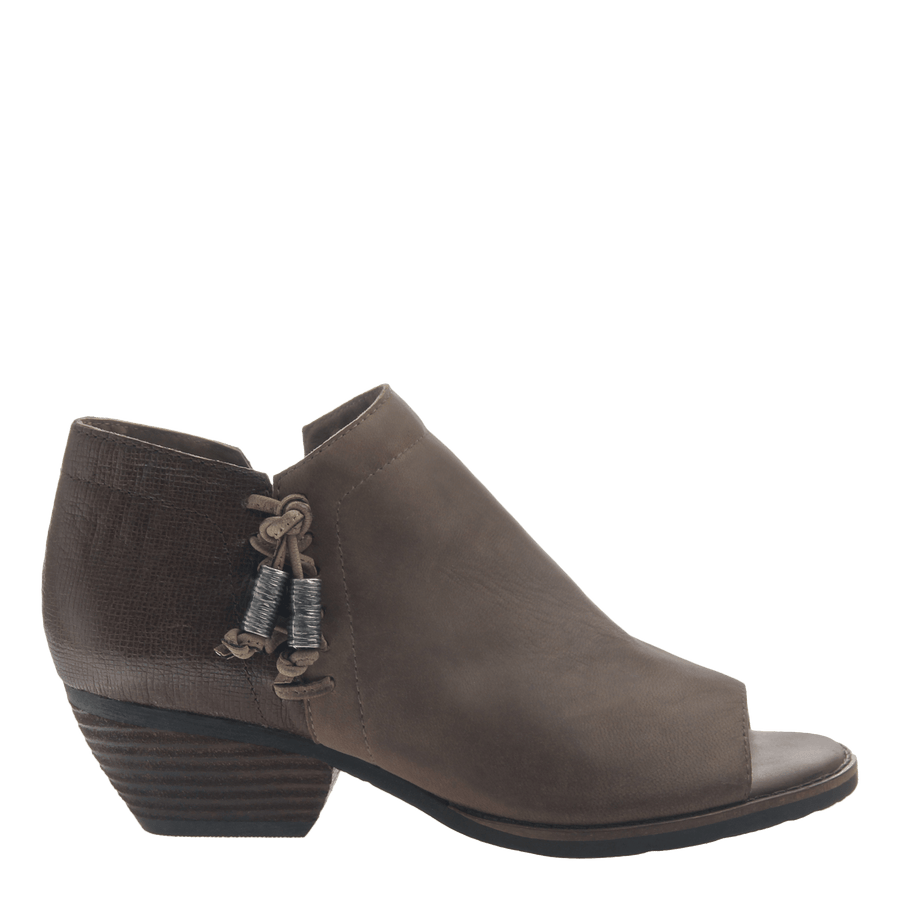 women's ankle bootie the truckage in grey