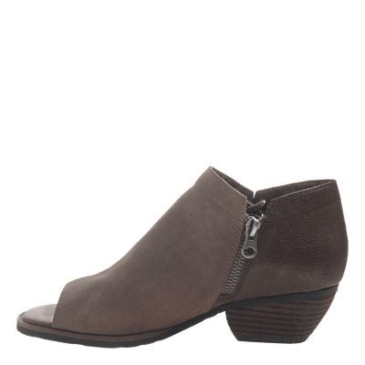 women's ankle bootie the truckage in grey inside view