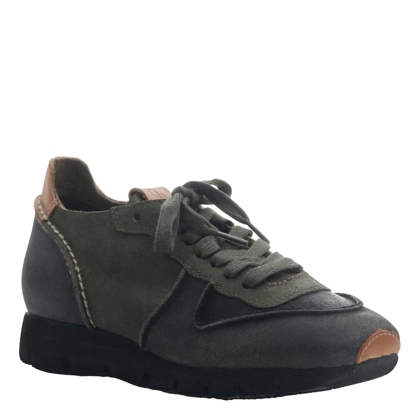 Women' lace up sneaker the snowbird in dark grey