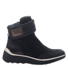Women's cold weather boot the outing in black outside view