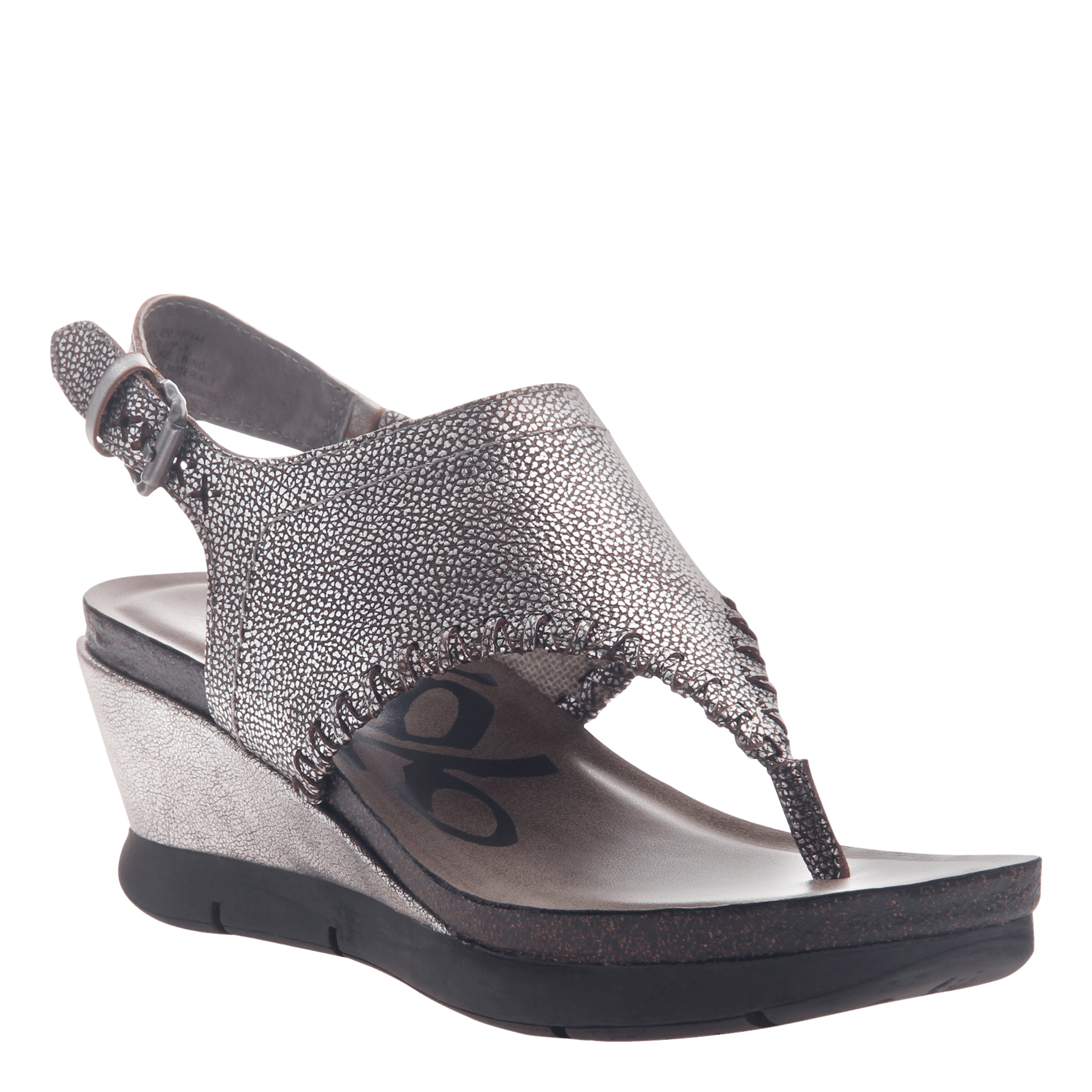 60c07172580dfc Womens thong wedge sandal Meditate in silver