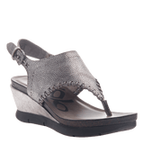 MEDITATE in SILVER Wedge Sandals