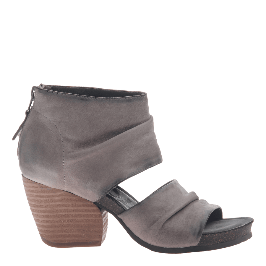 Womens heel sandal patchouli in zinc