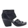 Womens heel sandal patchouli in black side view