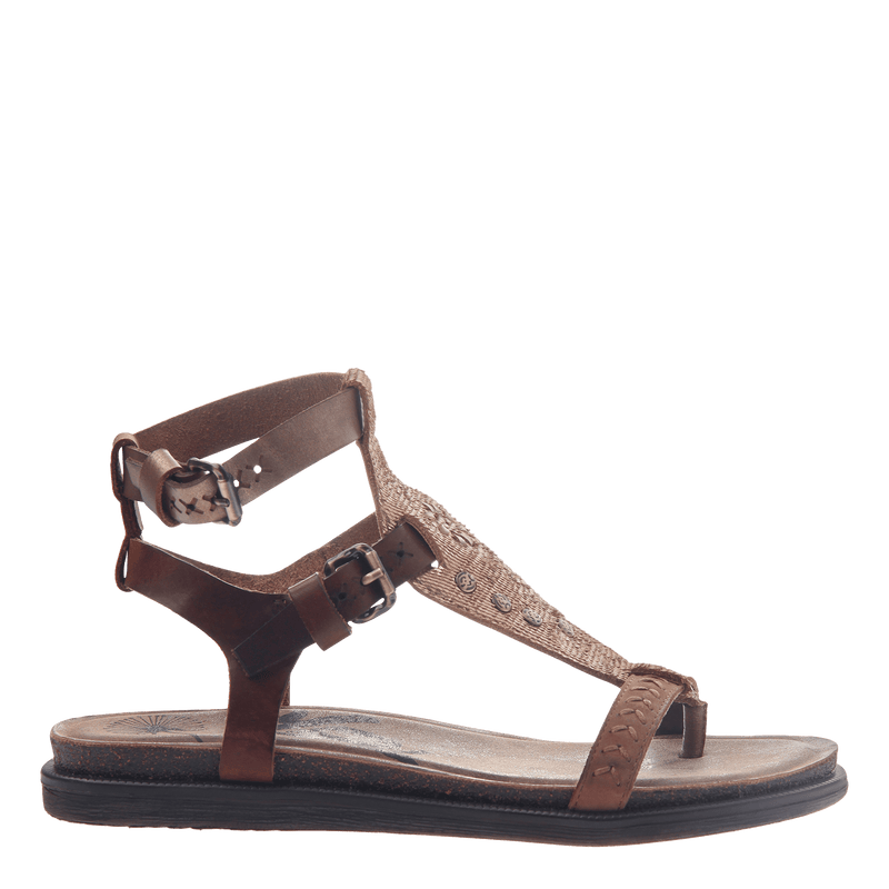 Womens strappy flat sandal Stargaze in Copper